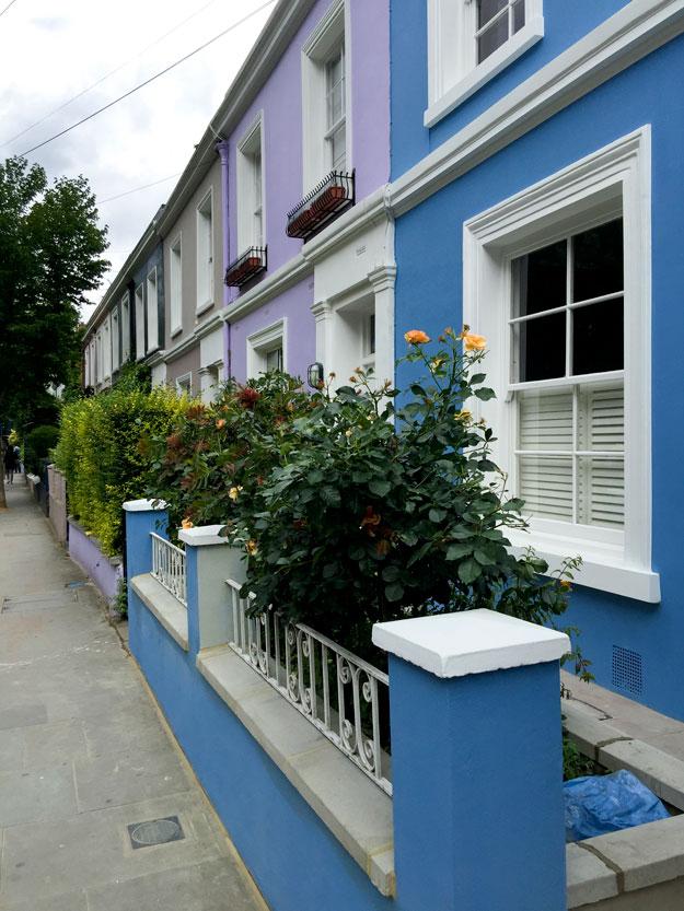 הבתים הצבעוניים בנוטינג היל