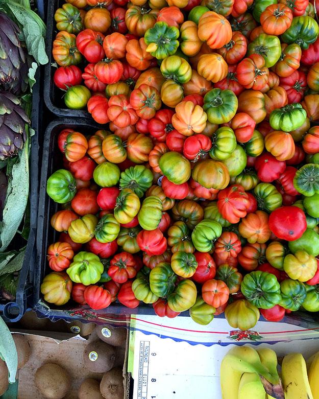 בפנזנו, בכיכר הקטנטנה של מרכז העיירה, נפתחו שמשיות צבעוניות, רחבות ידיים. איכרים מקומיים, פרשו את התוצרת המקומית שלהם