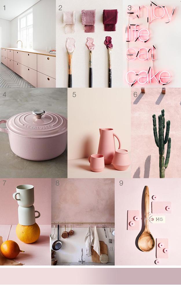 לוח השראה של פריטים ואביזרים בגוון ורוד אופנתי - הצבע הורוד כטרנד