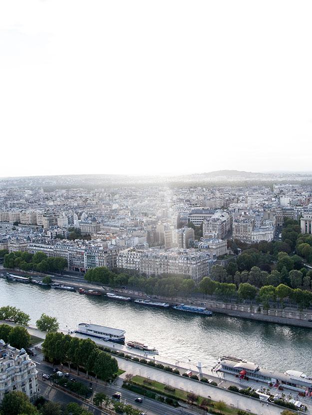מבט מהרובע הלטיני לגדה הימנית של פריז
