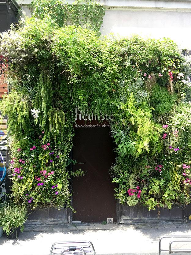 כניסה ירוקה לחנות הפרחים במארה