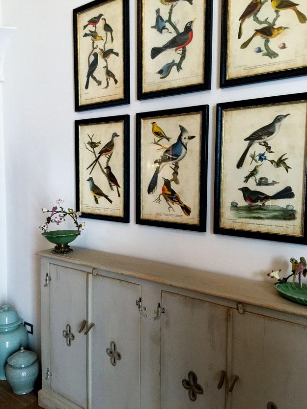 חדר בהשראת הטבע, ציפורים ופרחים בכל פינה