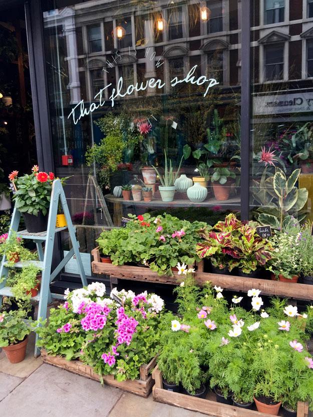 חנות פרחים קטנה ומטריפה בכניסה למלון