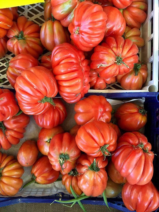 עגבניות מורשת בשוק האיכרים