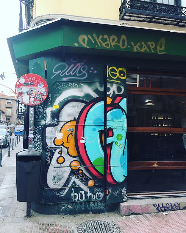 בית מצוייר בגרפיטי במדריד