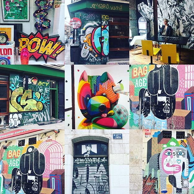 אמנות רחוב גרפיטי ברחובות מדריד