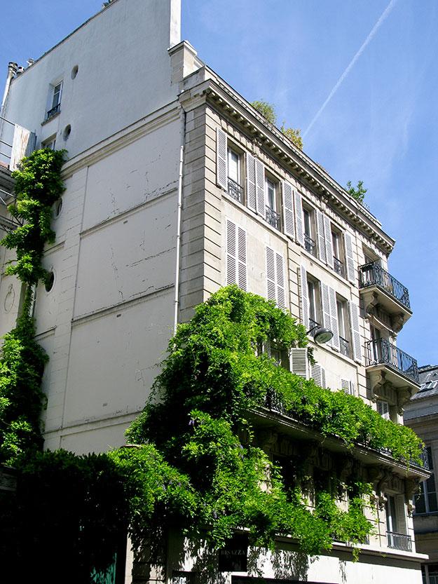 בית עטור במטפס ירוק ברובע הלטיני בפריז