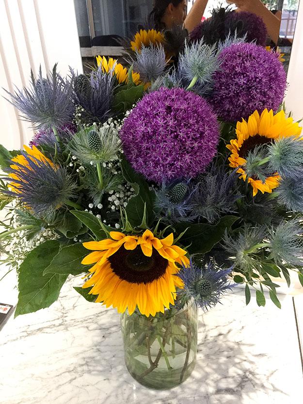 סידור פרחים מרשים