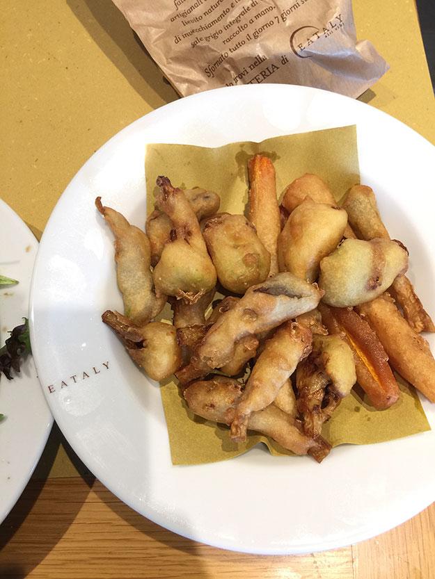 פריטו ורדורה, ירקות מטוגנים בבלילה פריכה