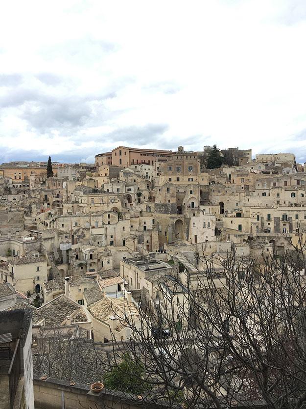 העיר מטרה - בתי אבן, כנסיות ומבני העיר כולם כאילו נשתלו בתוך הסלעים, צפופים וצמודים זה